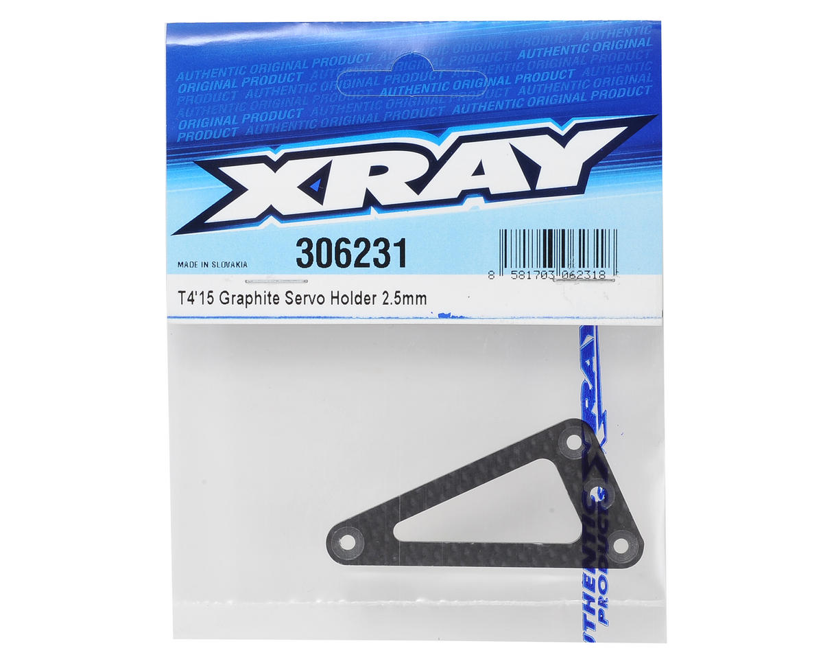XRAY 2.5mm Graphite T4 2015 Servo Holder