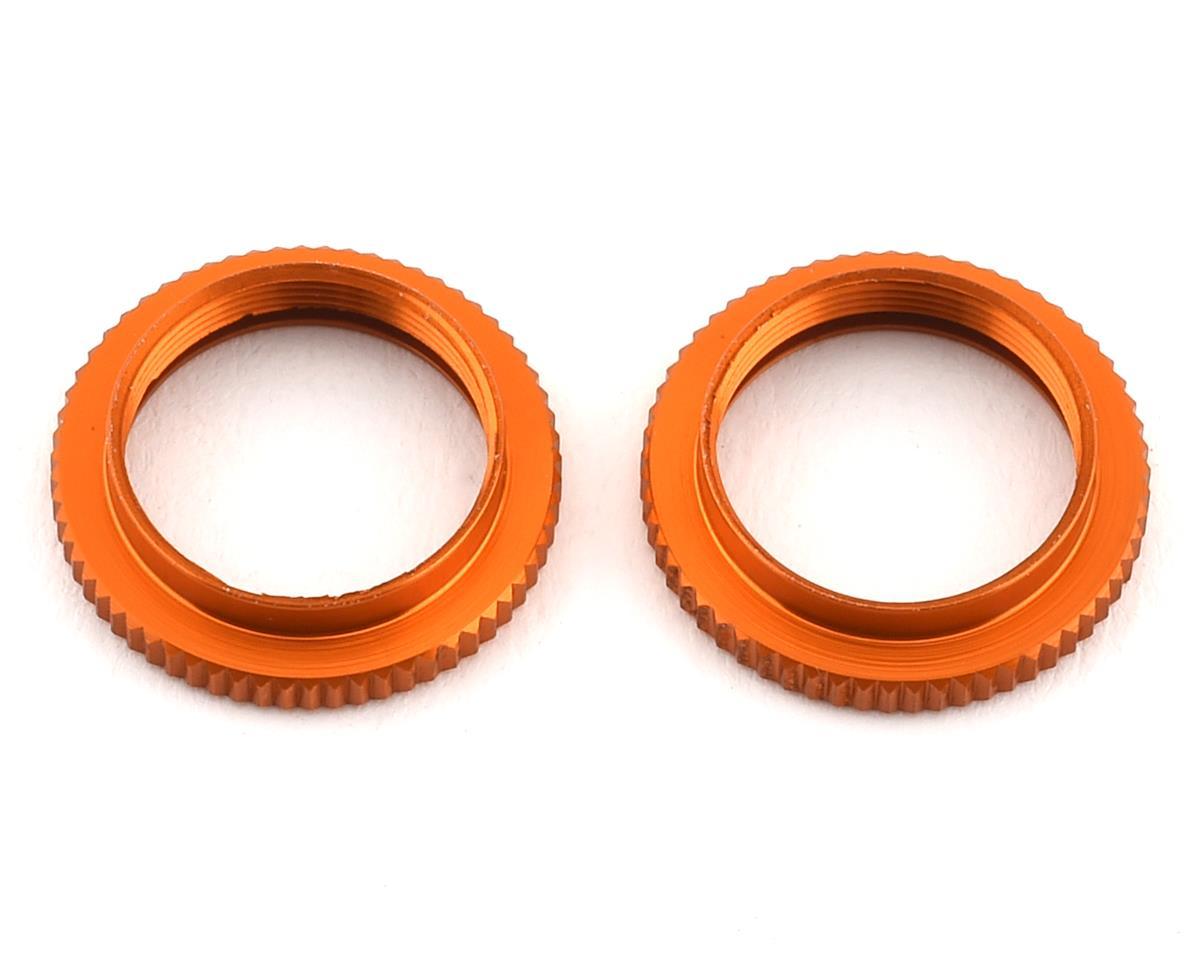 XRAY ULP Aluminum Shock Adjustable Nut V2 (Orange) (2)