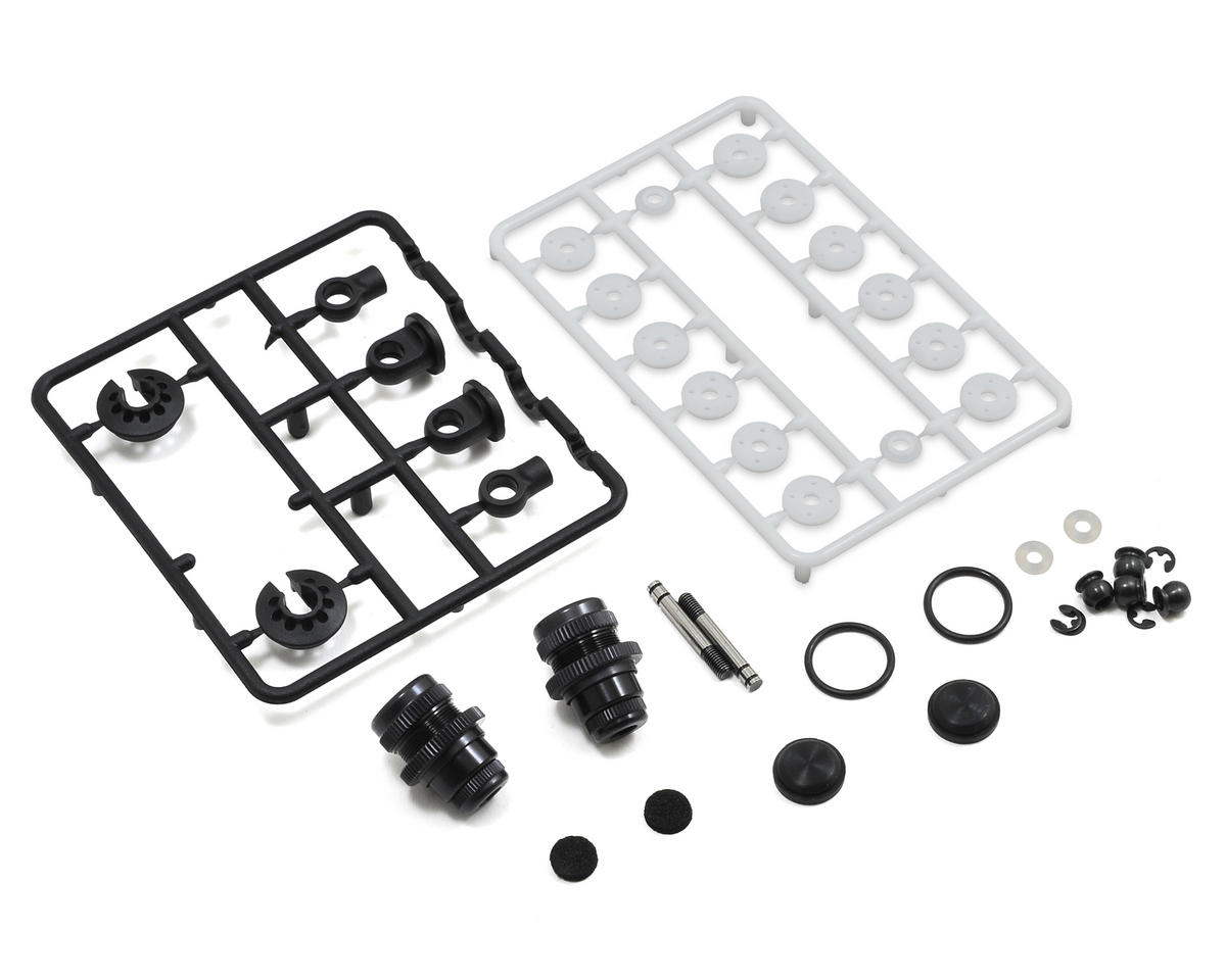 XRAY Aluminum T4 Touring Car Shock Absorber Set (Black) (2)