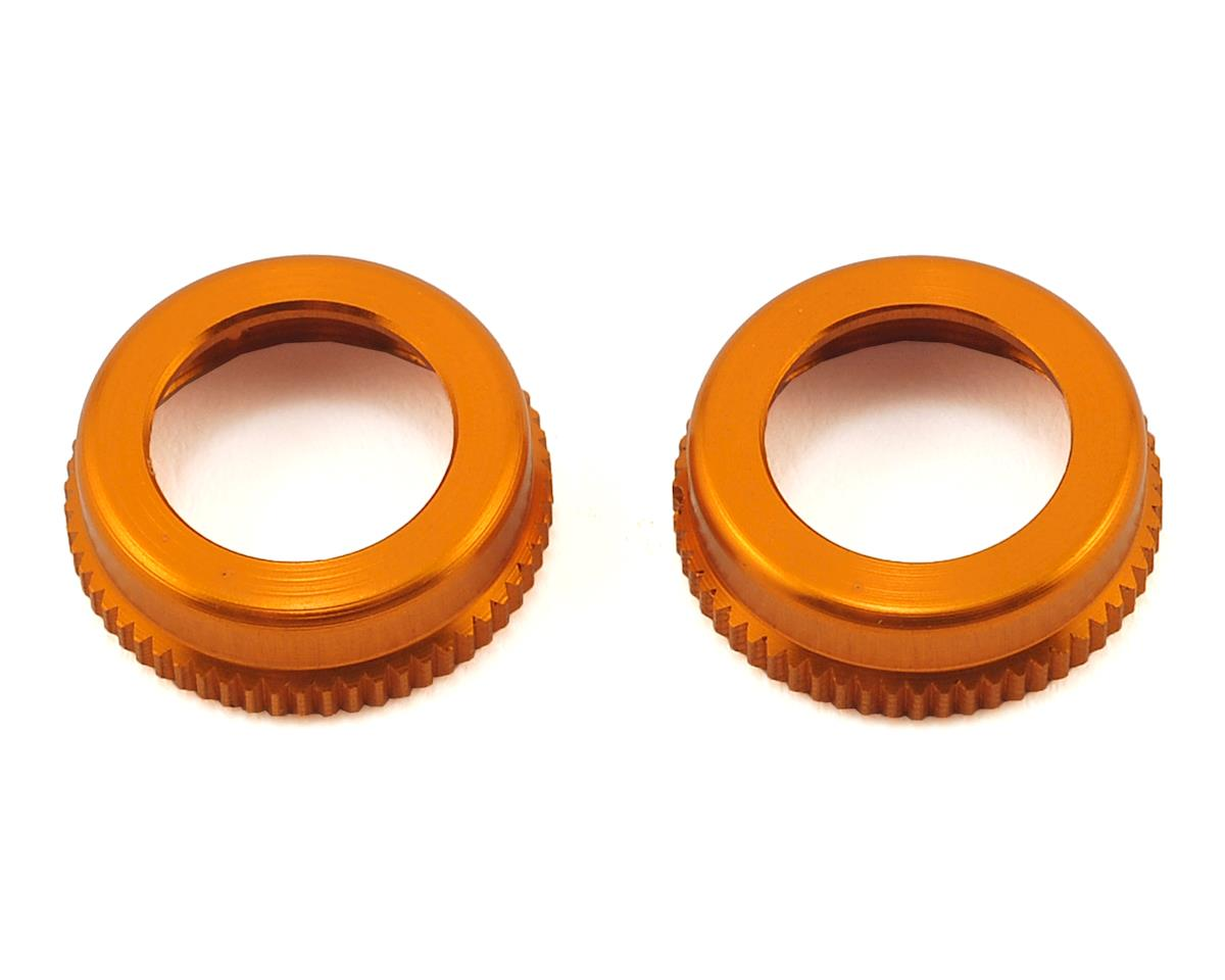 XRAY ULP Aluminum Shock Cap-Nut w/Vent Hole (Orange) (2)