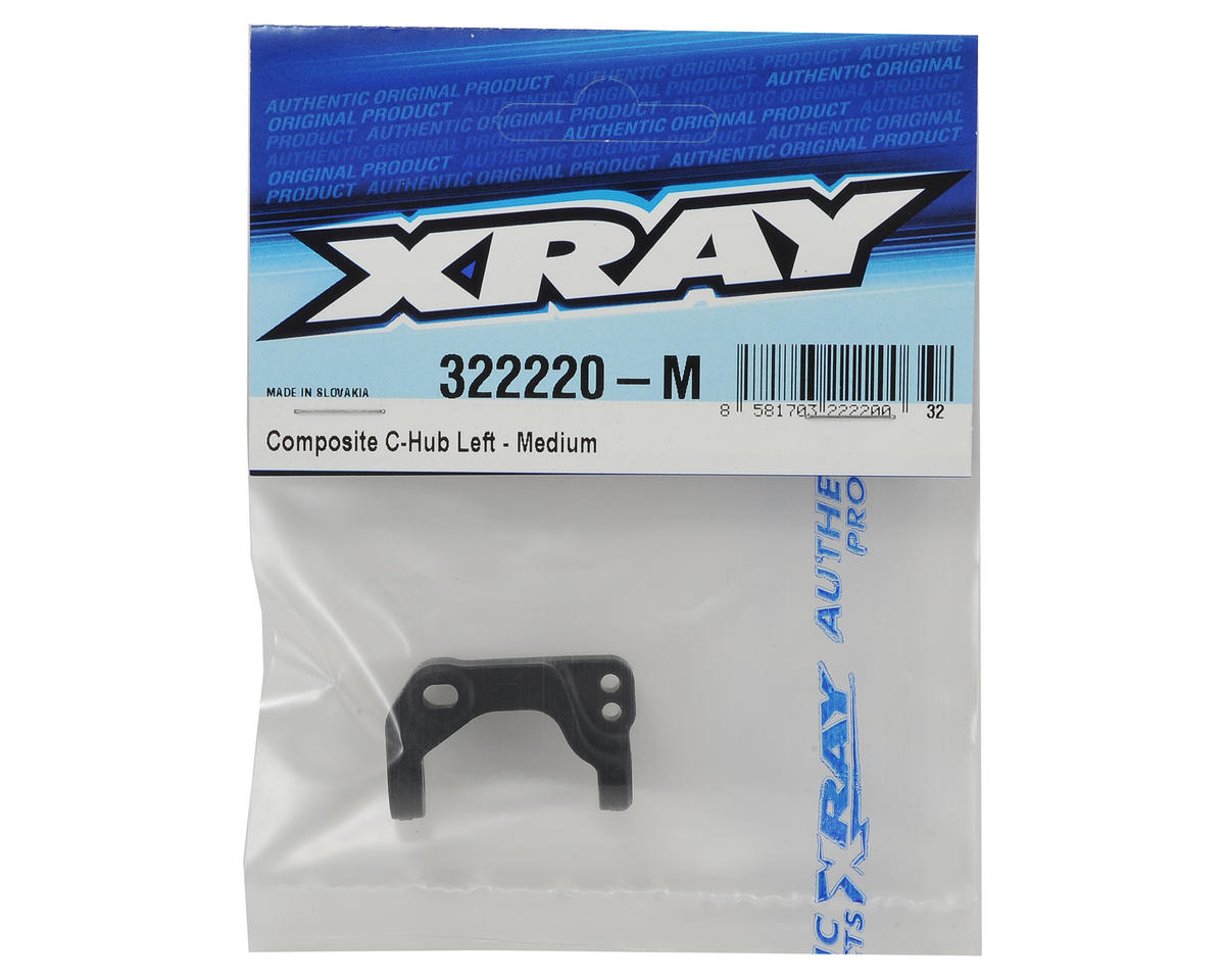 XRAY XB2 Composite Left C-Hub (Medium)