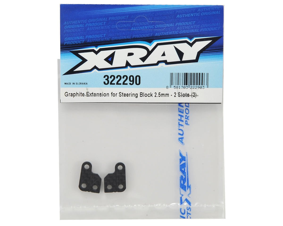 XRAY XB2 Graphite 2 Slot Steering Block Extension (2)