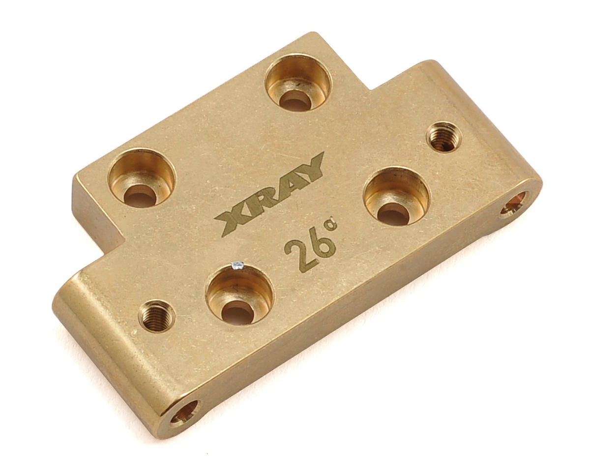 XRAY XB2 2019 Carpet 26° Brass Front Lower Arm Mount