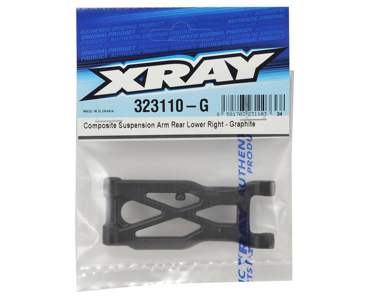 XRAY XB2 Graphite Composite Rear Suspension Arm (Hard) (Right)