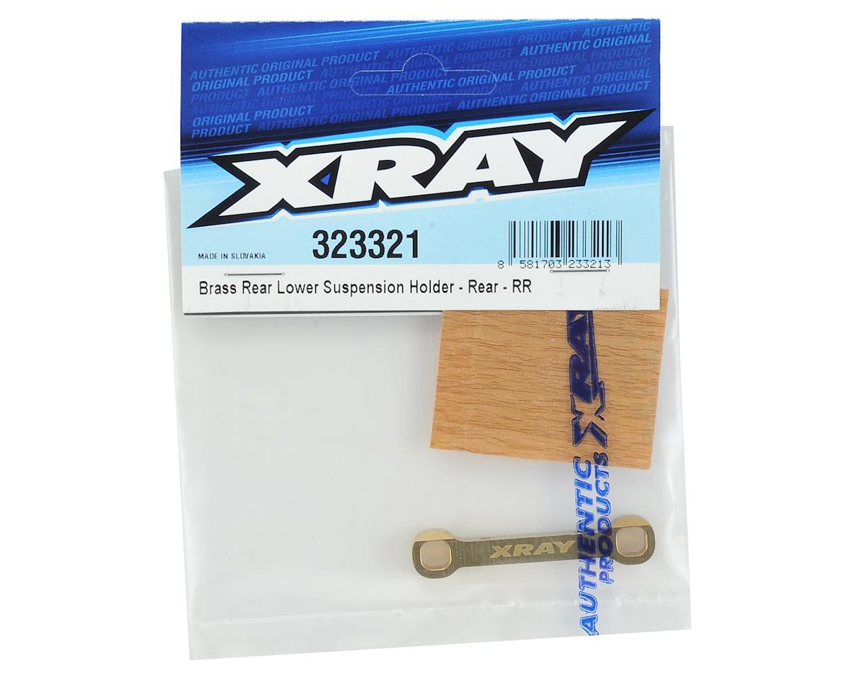 XRAY Brass Rear/Rear Lower Suspension Holder