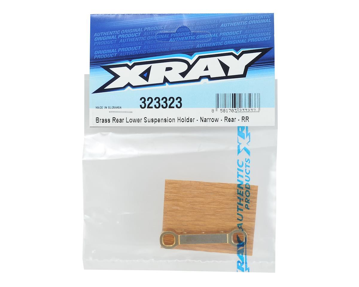 XRAY Brass Rear/Rear Narrow Lower Suspension Holder