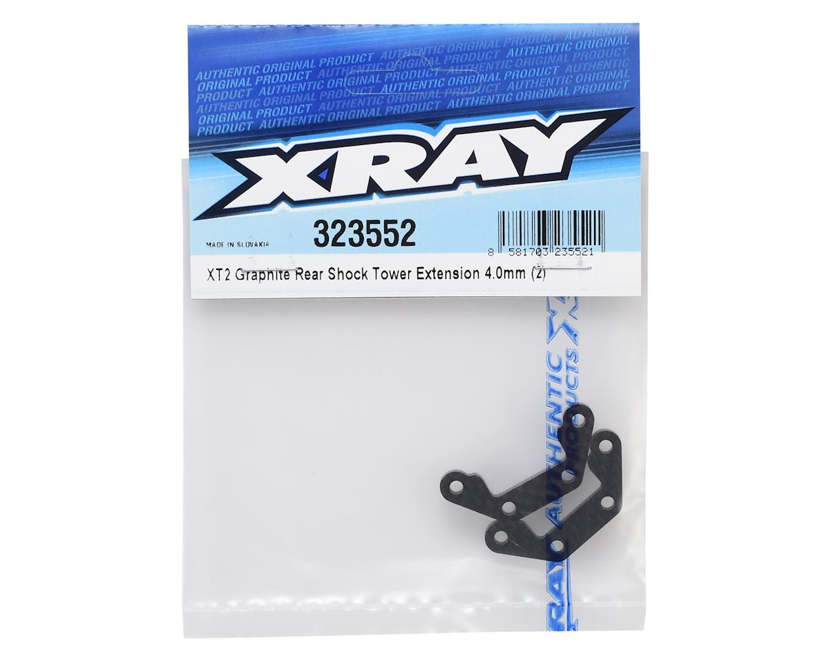 XRAY XT2 4.0mm Graphite Rear Shock Tower Extension (2)