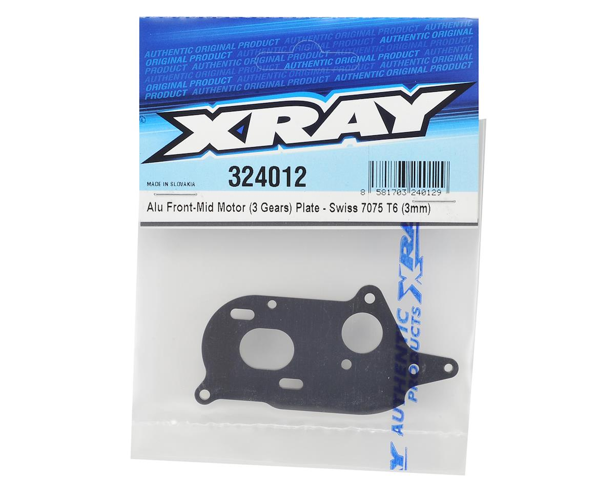 XRAY 3mm Aluminum 3-Gear Front-Mid Motor Plate