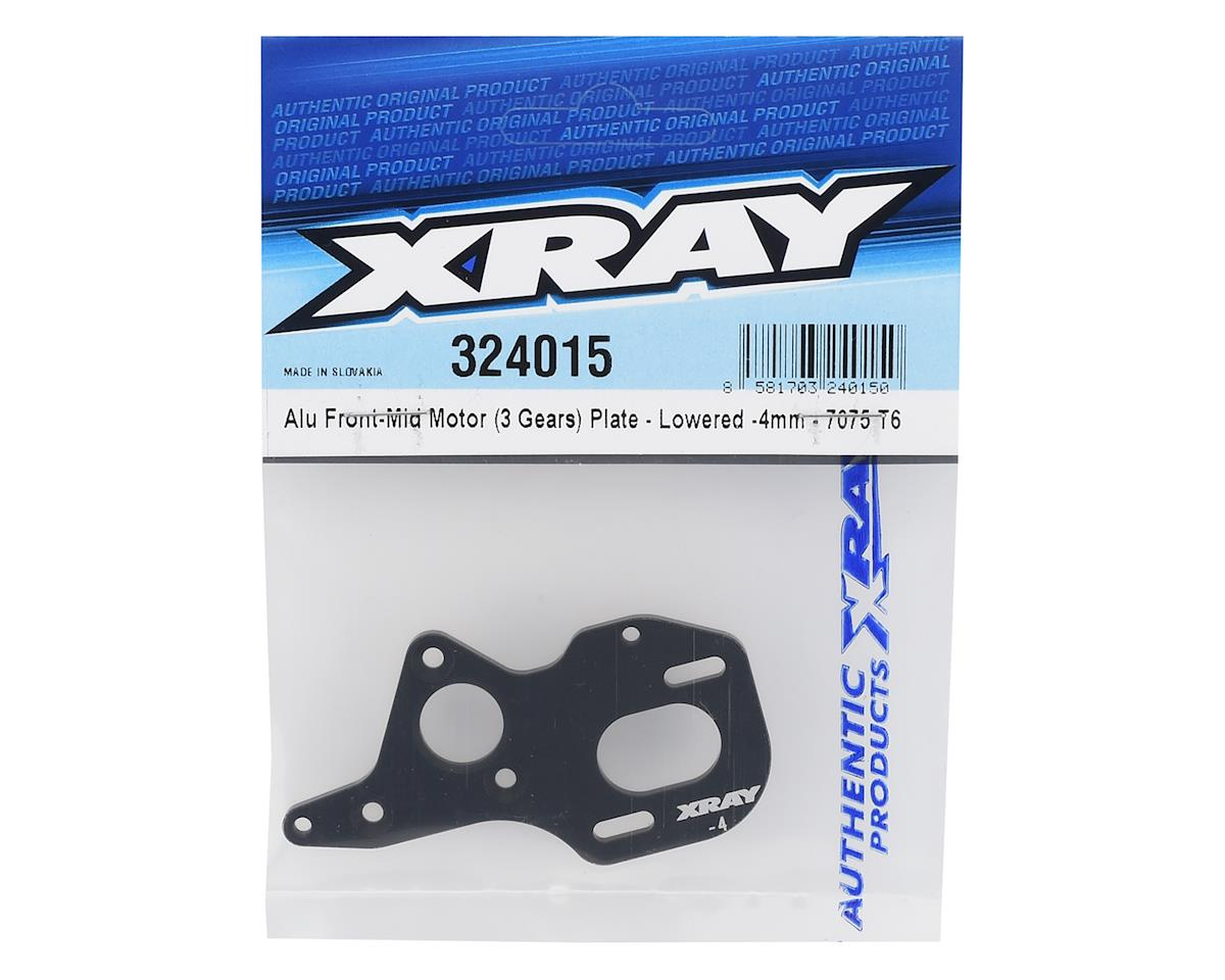 XRAY Aluminum Front/Mid Motor Plate (Lowered -4mm)