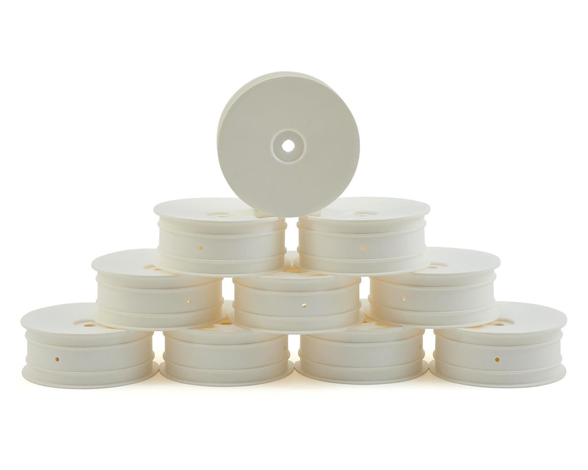 """XRAY 12mm Hex """"Aerodisk"""" 2WD Front Buggy Wheels (10) (White) (XB2)"""