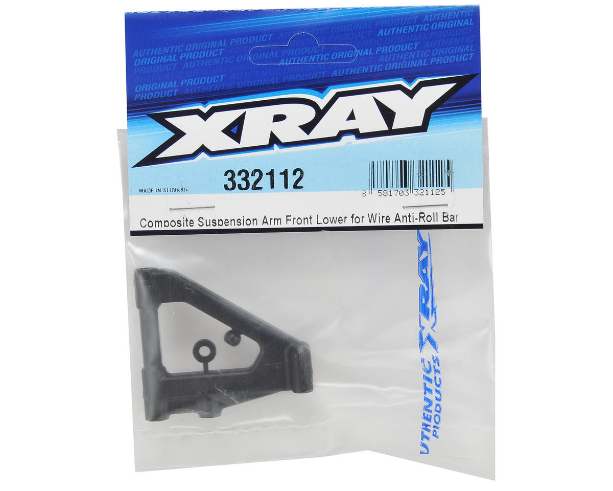 XRAY Composite Suspension Front Lower Arm (Wire Anti-Roll Bar)