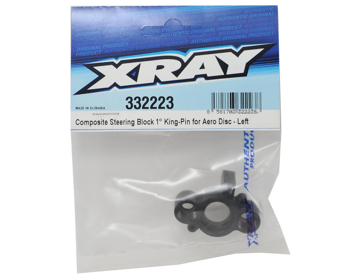 XRAY +1° King-Pin Composite Aero Disc Steering Block (Left)