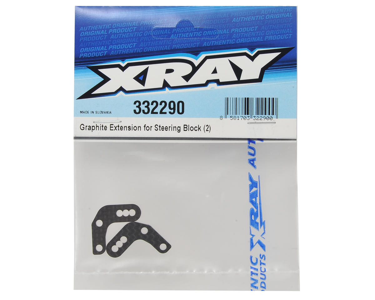 XRAY Graphite Steering Block Extension (2)