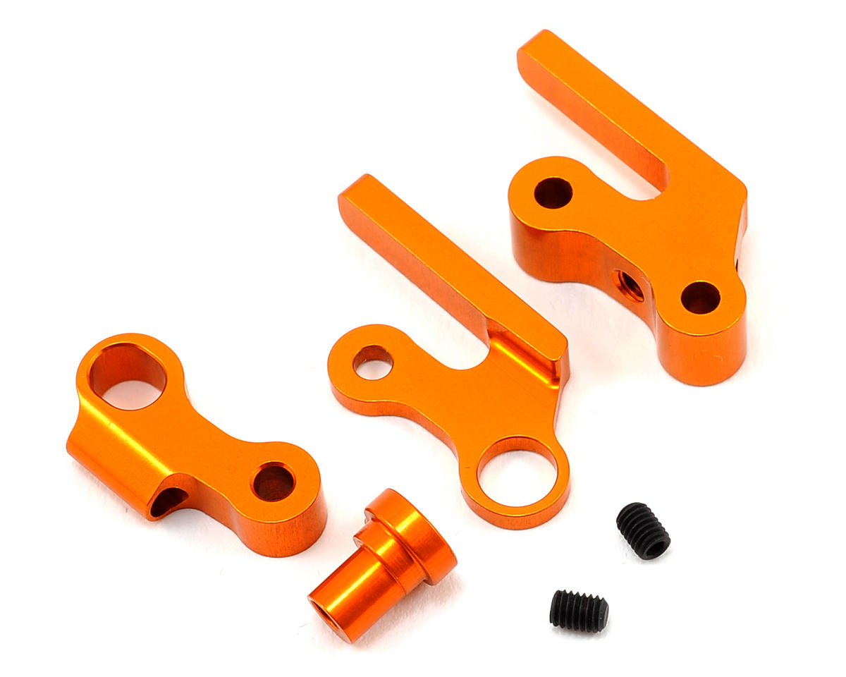 XRAY Aluminum Front Independent Downstop Anti-Roll Bar (Orange)