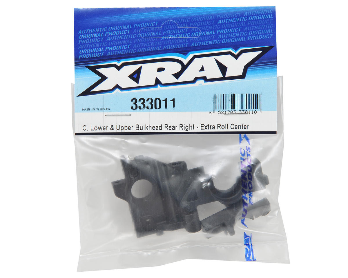 XRAY Right Rear Composite Upper & Lower Bulkhead Set (Extra Roll Center)