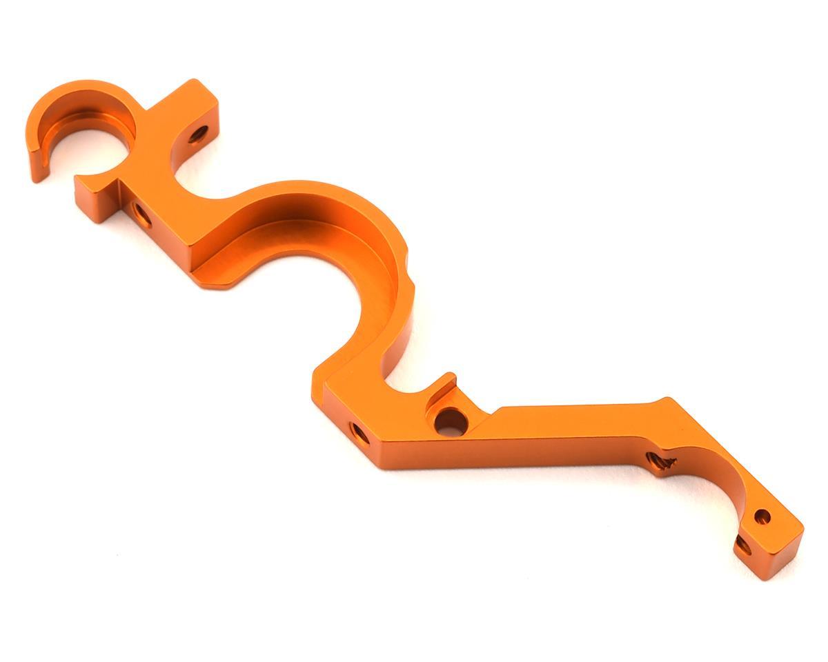 XRAY NT1.2 Aluminum Rear Lower Bulkhead (Orange) (Right)