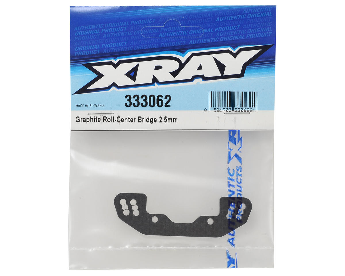 XRAY 2.5mm Graphite Roll-Center Bridge