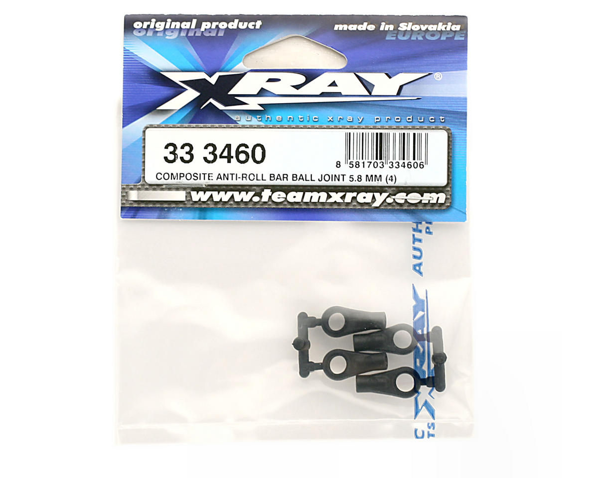 Composite Anti-Roll Bar Ball Joint 5.8mm (NT1) (4) by XRAY