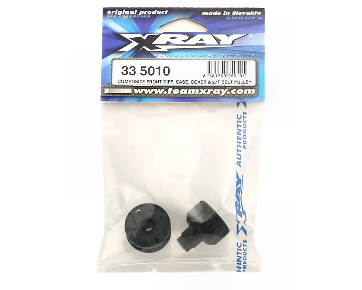 Composite Front Differential Case, Cover & 27T Belt Pulley (NT1) by XRAY