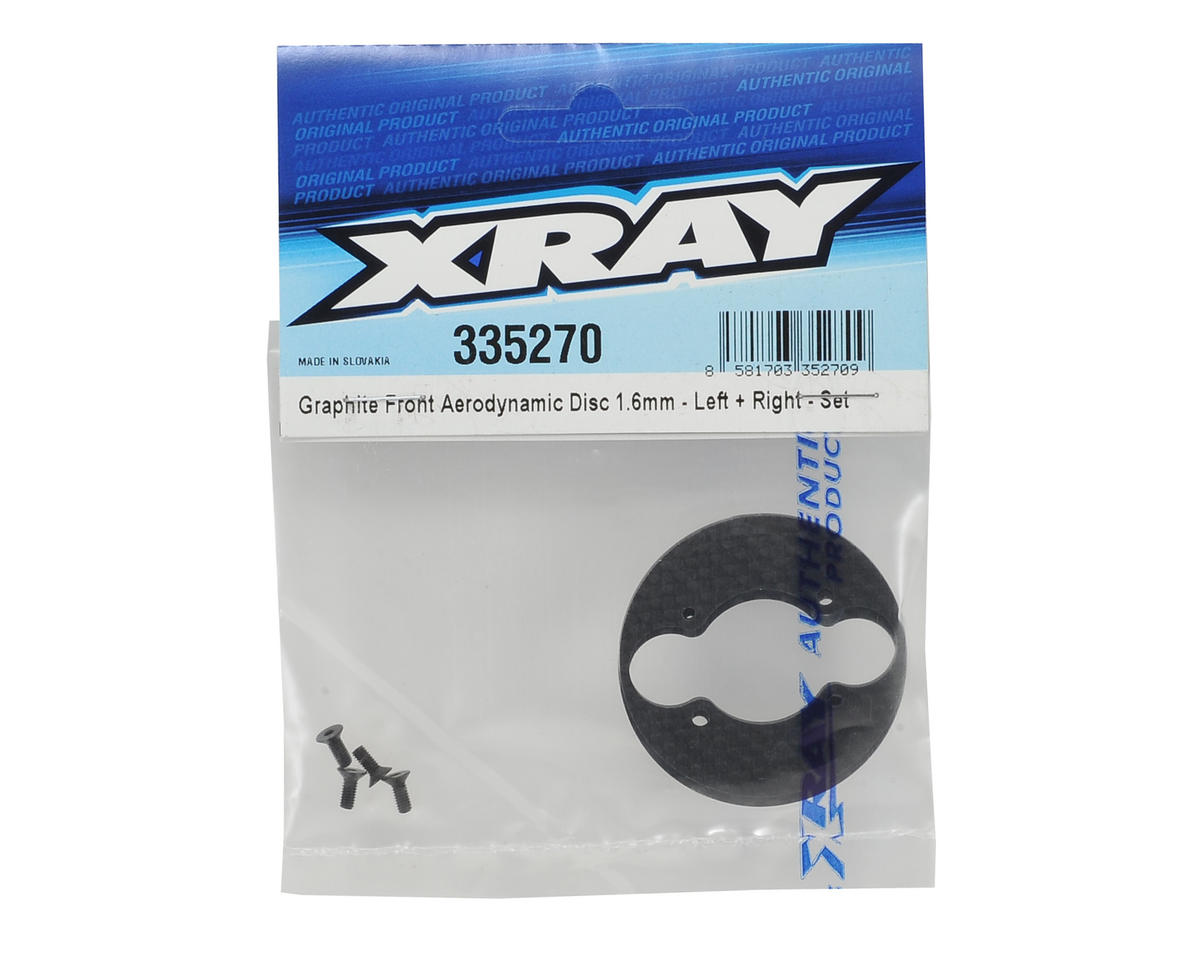 XRAY 1.6mm Graphite Front Aerodynamic Disc Set