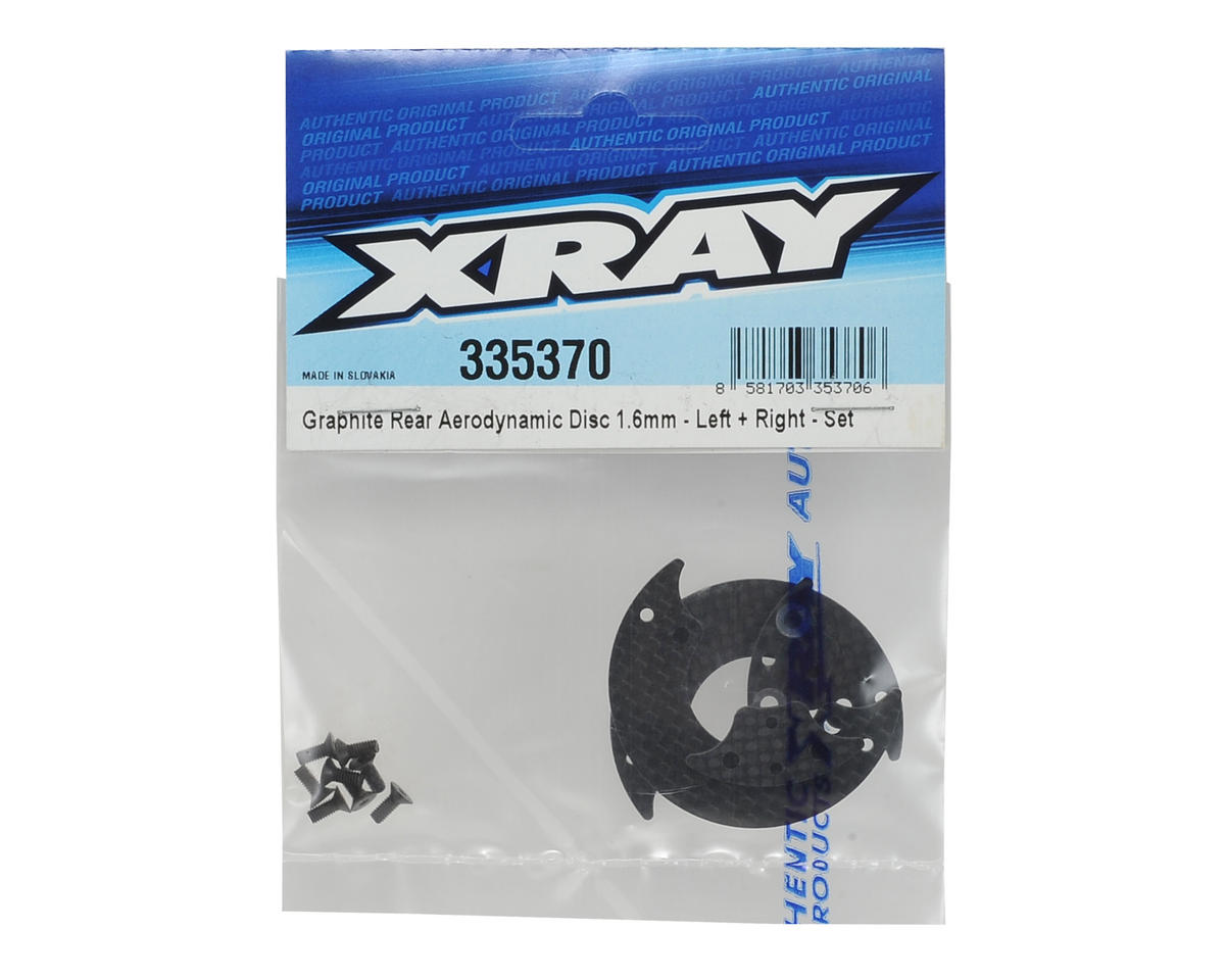 XRAY 1.6mm Graphite Rear Aerodynamic Disc Set