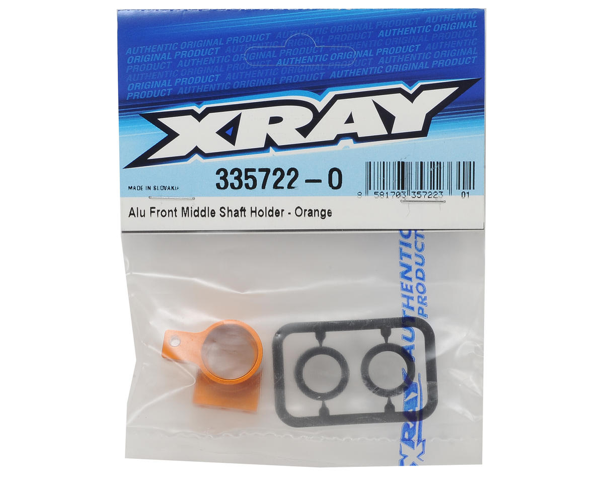 XRAY Aluminum Front Middle Shaft Holder (Orange)