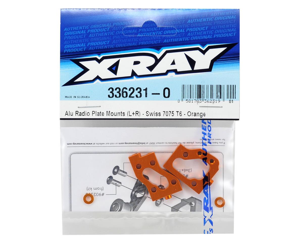 Aluminum Radio Plate Mount Set (Orange) by XRAY