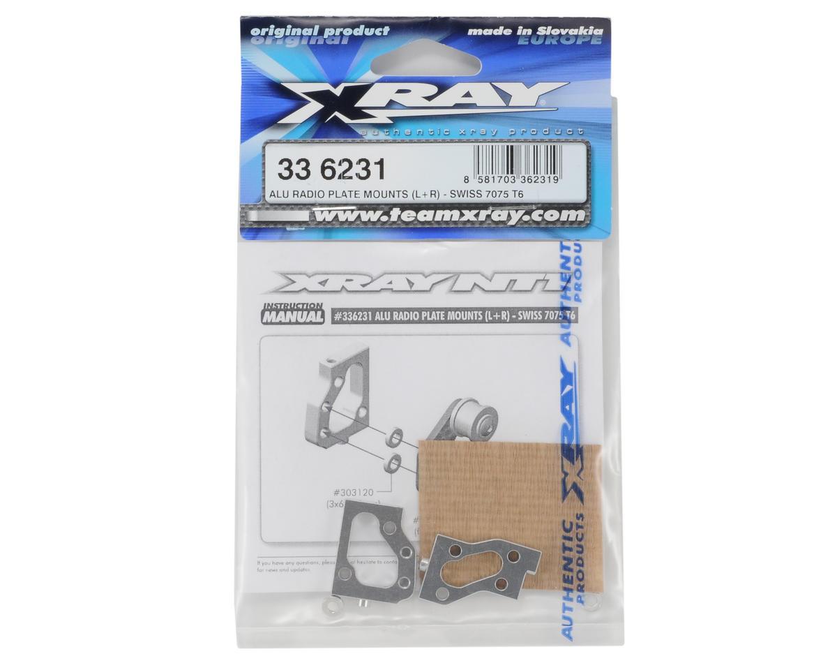 XRAY Aluminum Radio Plate Mounts (L+R)