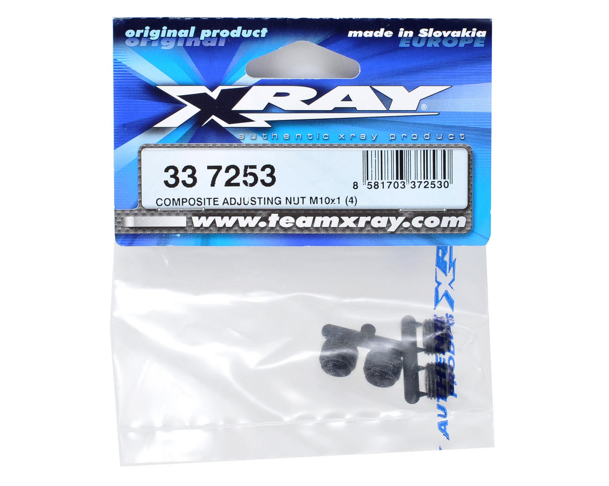 XRAY M10X1 Composite Adjusting Nut (4)