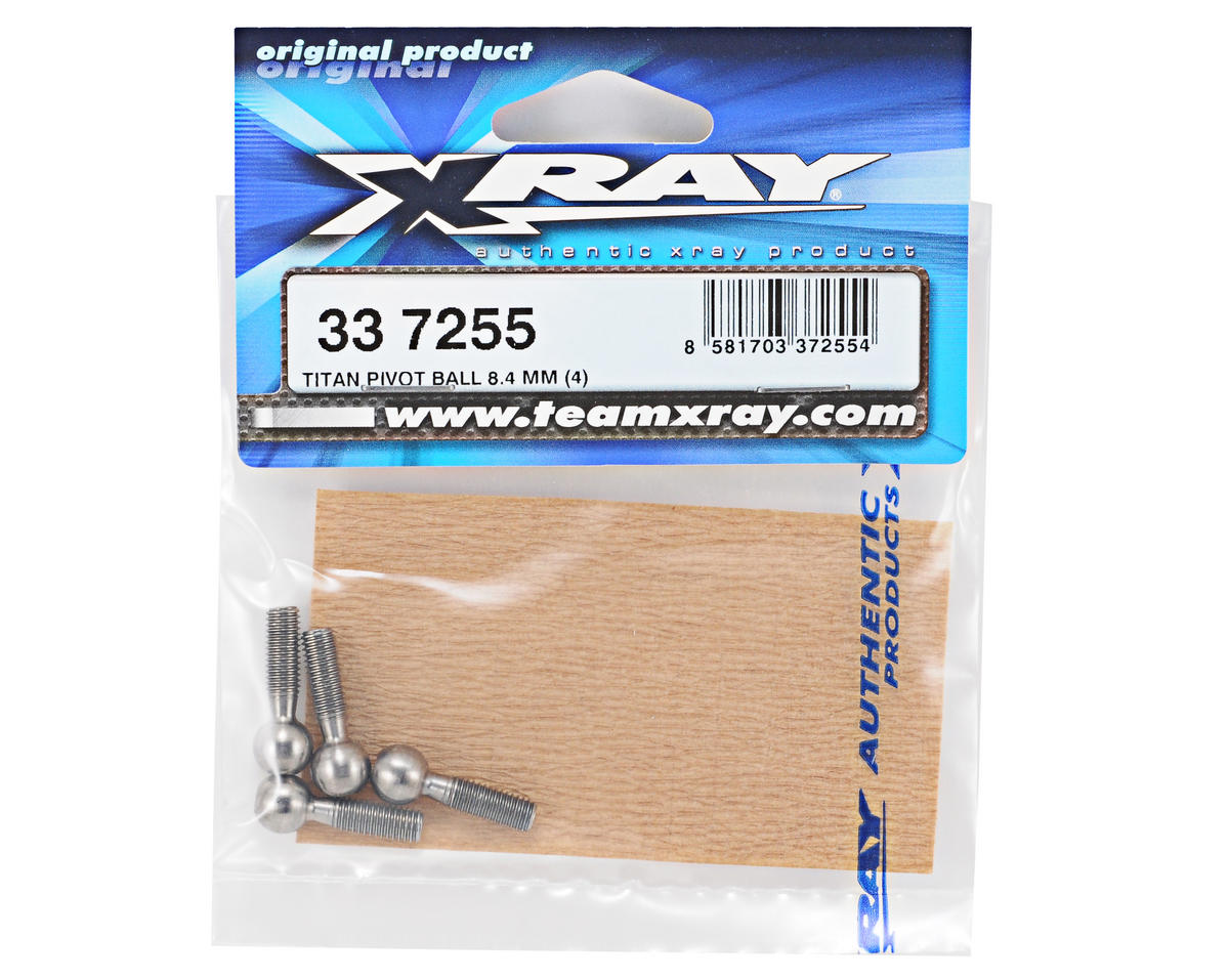 XRAY 8.4mm Titanium Pivot Ball Set (4)