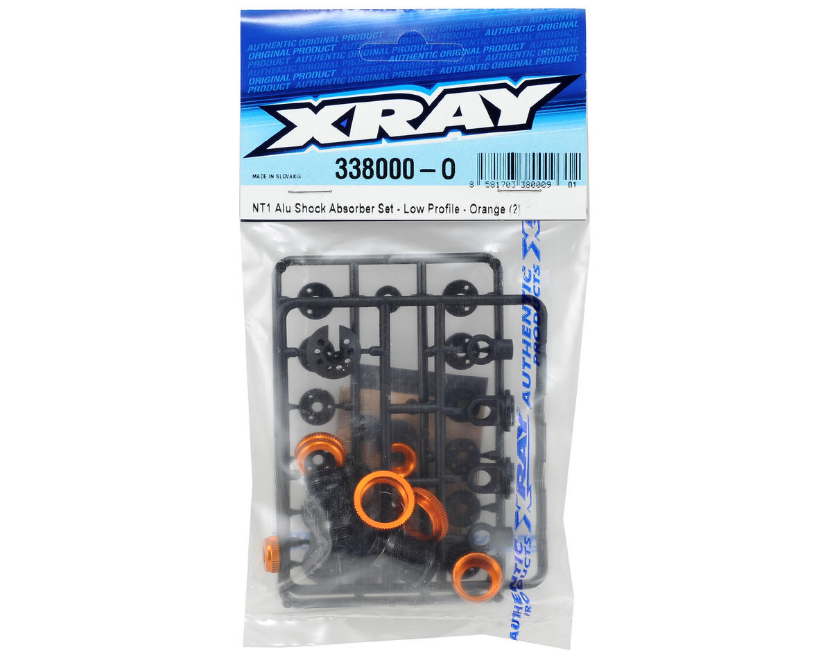 XRAY Aluminum Low Profile Shock Absorber Set (Orange) (2)