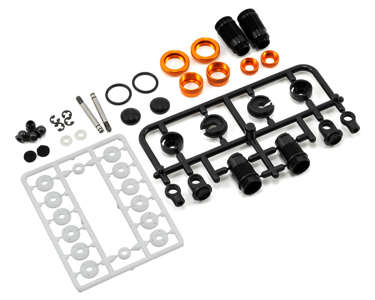 Aluminum Shock Absorber Set (Orange) (2) by XRAY