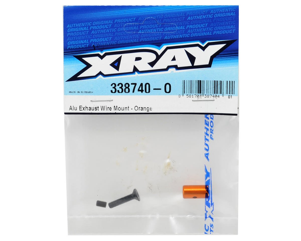 XRAY Aluminum Exhaust Wire Mount (Orange)