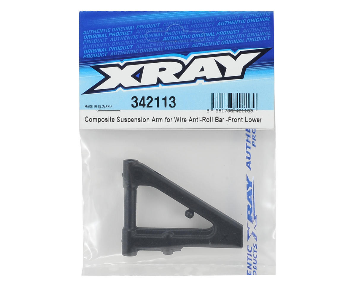 XRAY Composite Front Lower Suspension Arm (Wire Roll Bar)