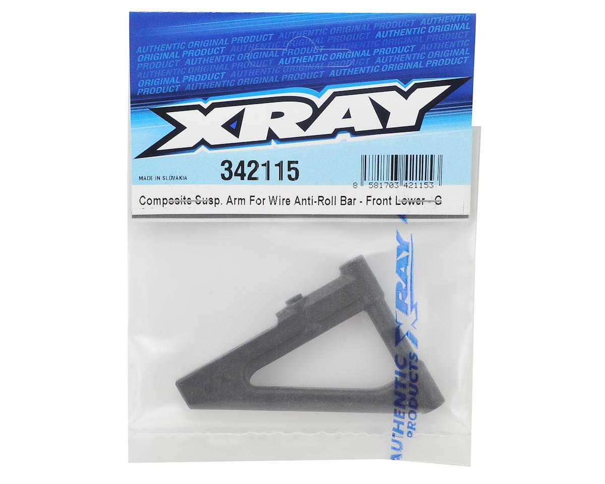 XRAY Front Lower Composite Suspension Arm (Graphite)
