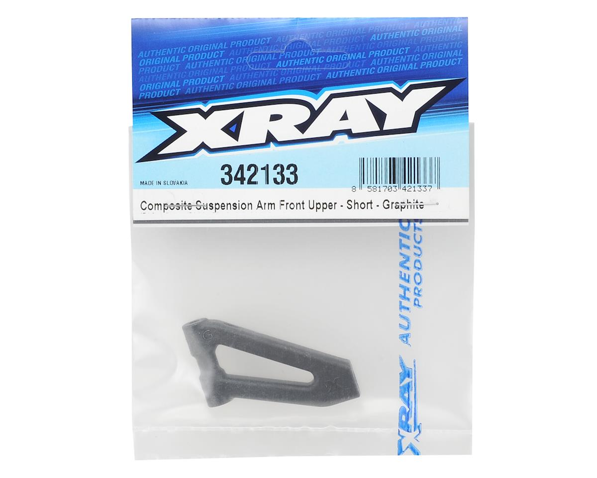 Short Composite Suspension Front Upper Arm (Graphite) by XRAY