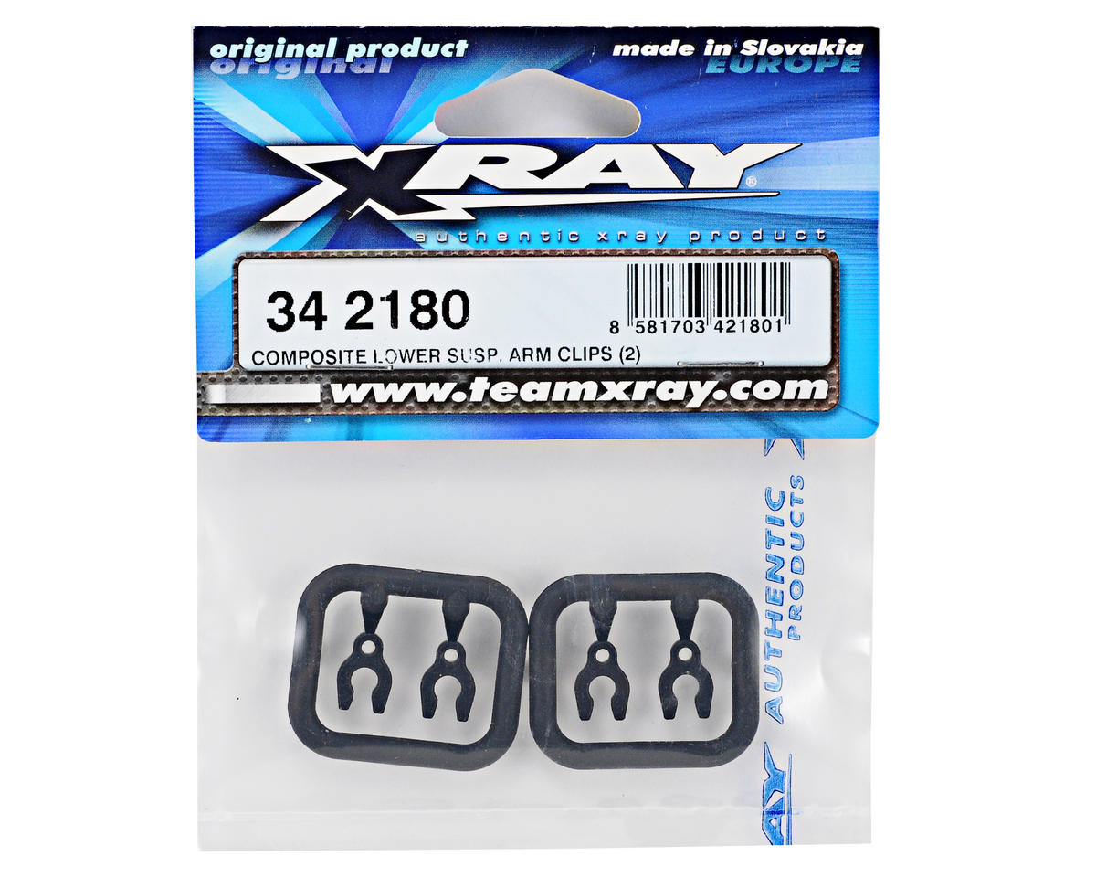 XRAY Composite 2mm Lower Suspension Arm Clip Set (4)
