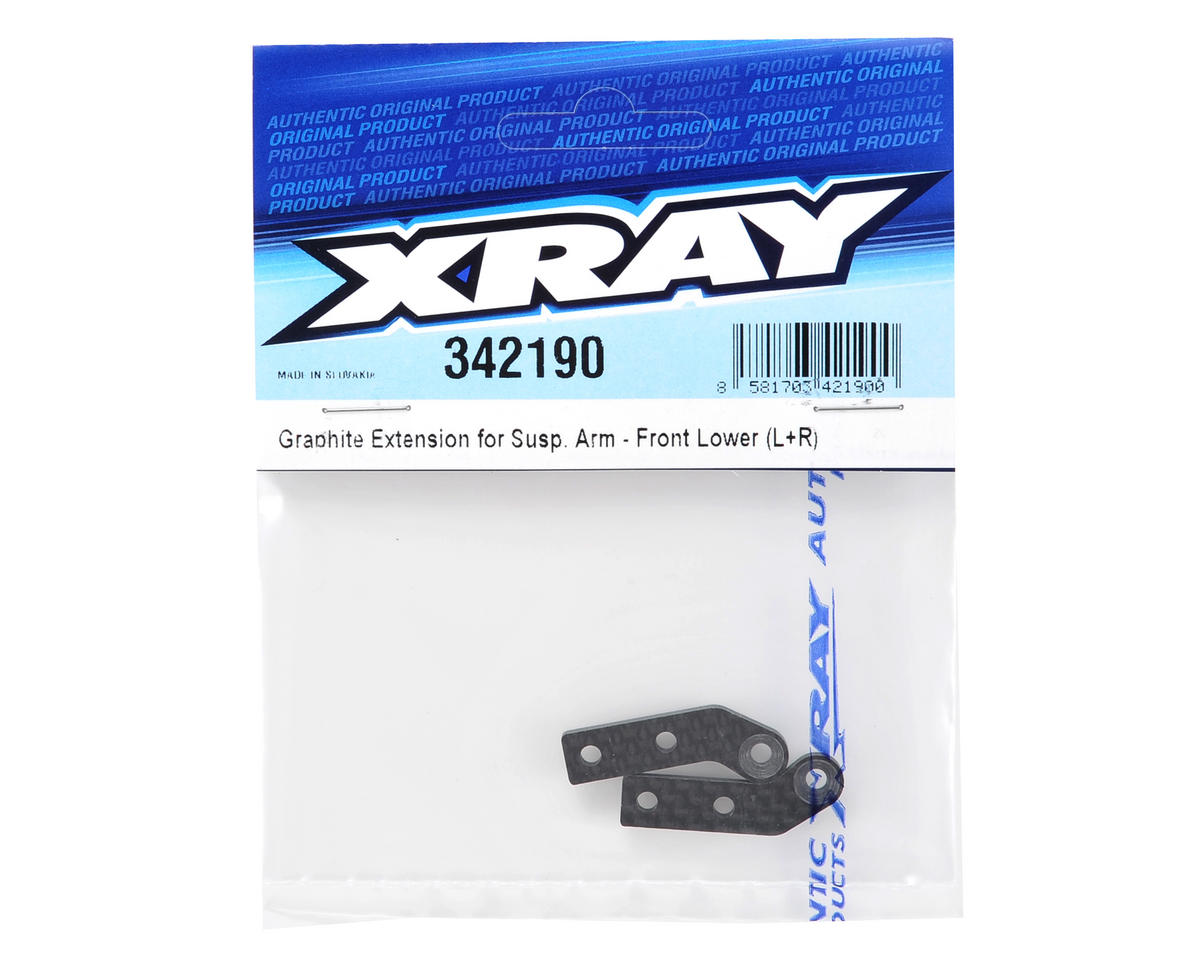 XRAY Graphite Lower Front Suspension Arm Extension (2)