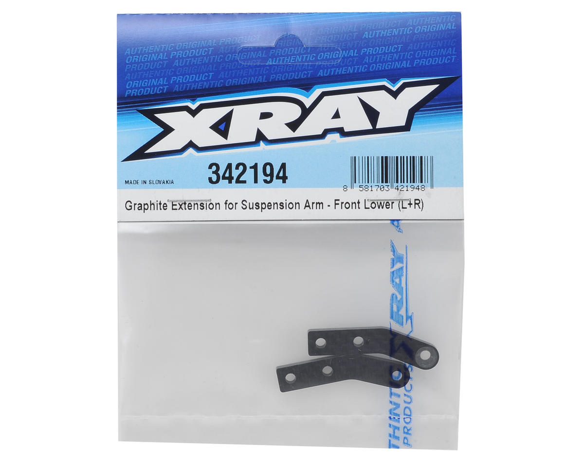 XRAY Front Lower Graphite Suspension Arm Extension