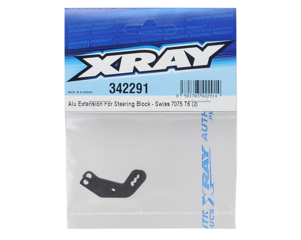 XRAY Aluminum Steering Block Extension (2)