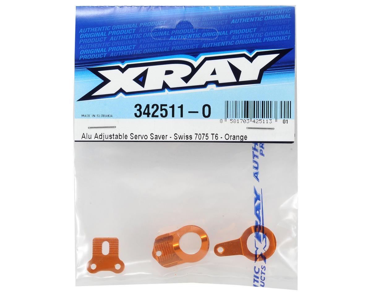 Aluminum Adjustable Servo Saver (Orange) by XRAY