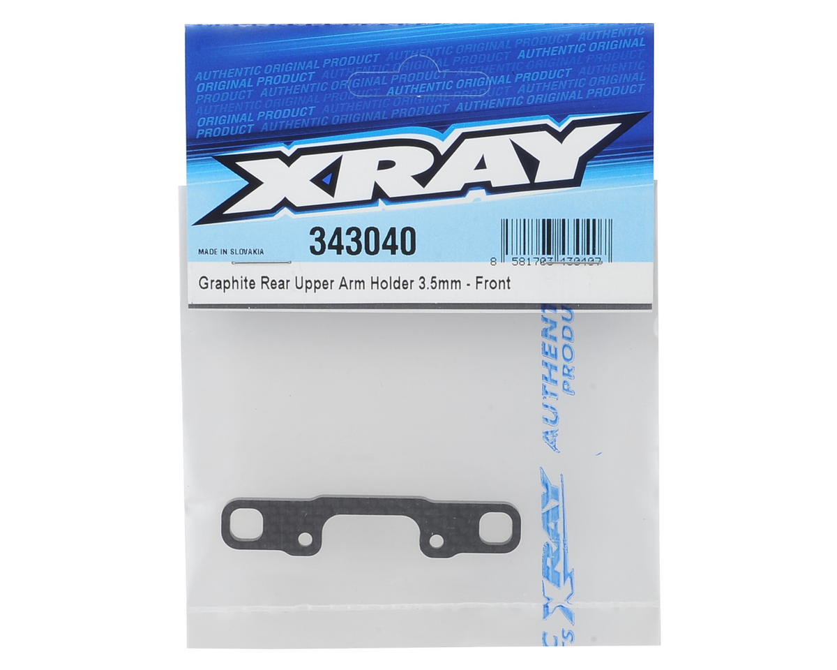 XRAY Front Graphite Rear Upper Arm Holder (3.5mm)