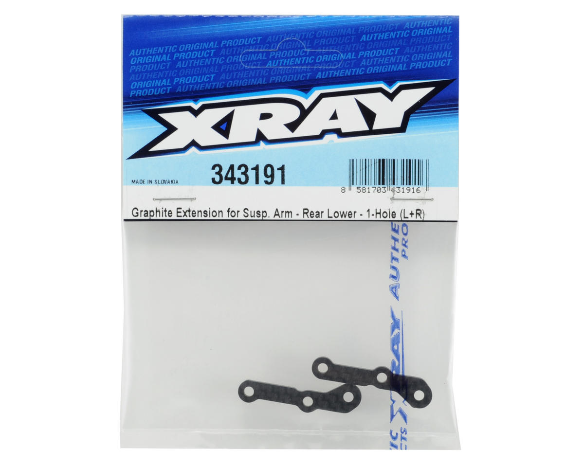 XRAY Graphite Rear Lower Suspension Arm Extension (1-Hole)