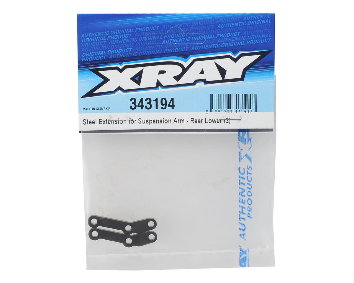 XRAY Rear Lower Steel Suspension Arm Extensions (2)
