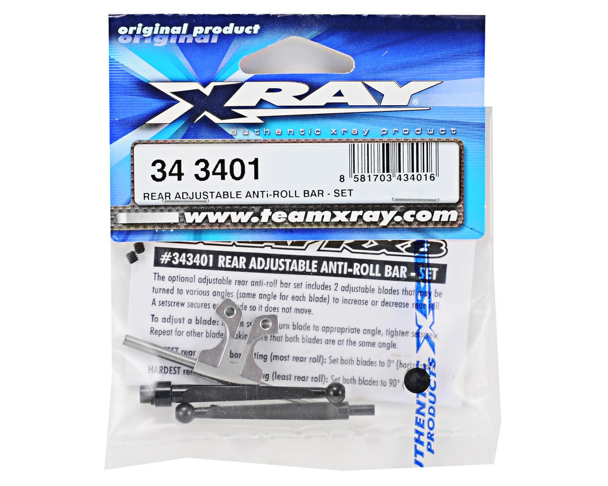 XRAY Adjustable Rear Anti-Roll Bar Set