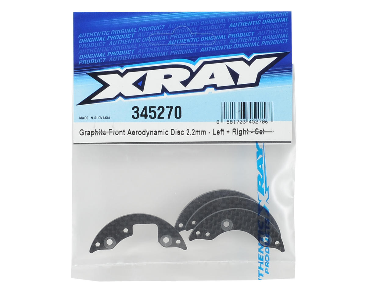 XRAY 2.2mm Front Graphite Aerodynamic Disc Set