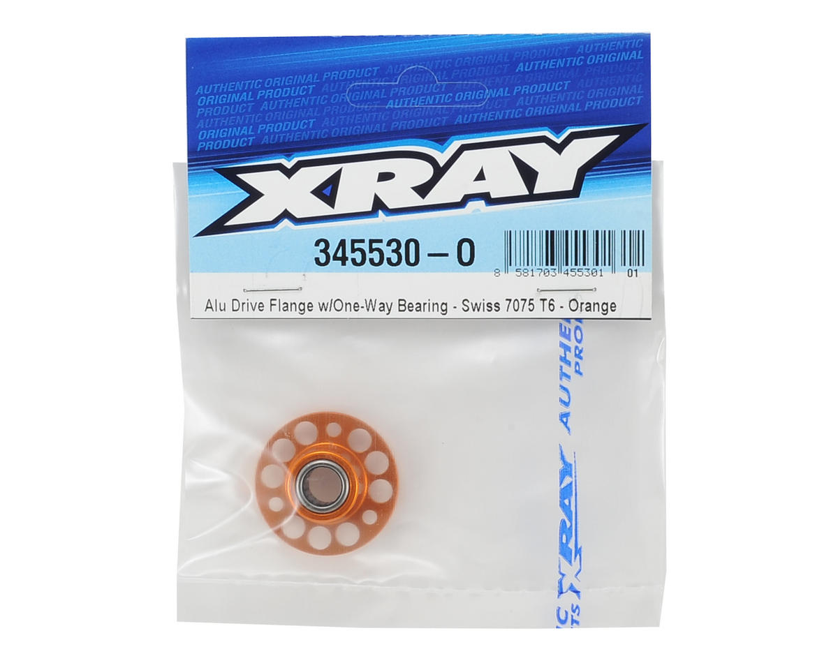 Aluminum Drive Flange w/One-Way Bearing (Orange) by XRAY