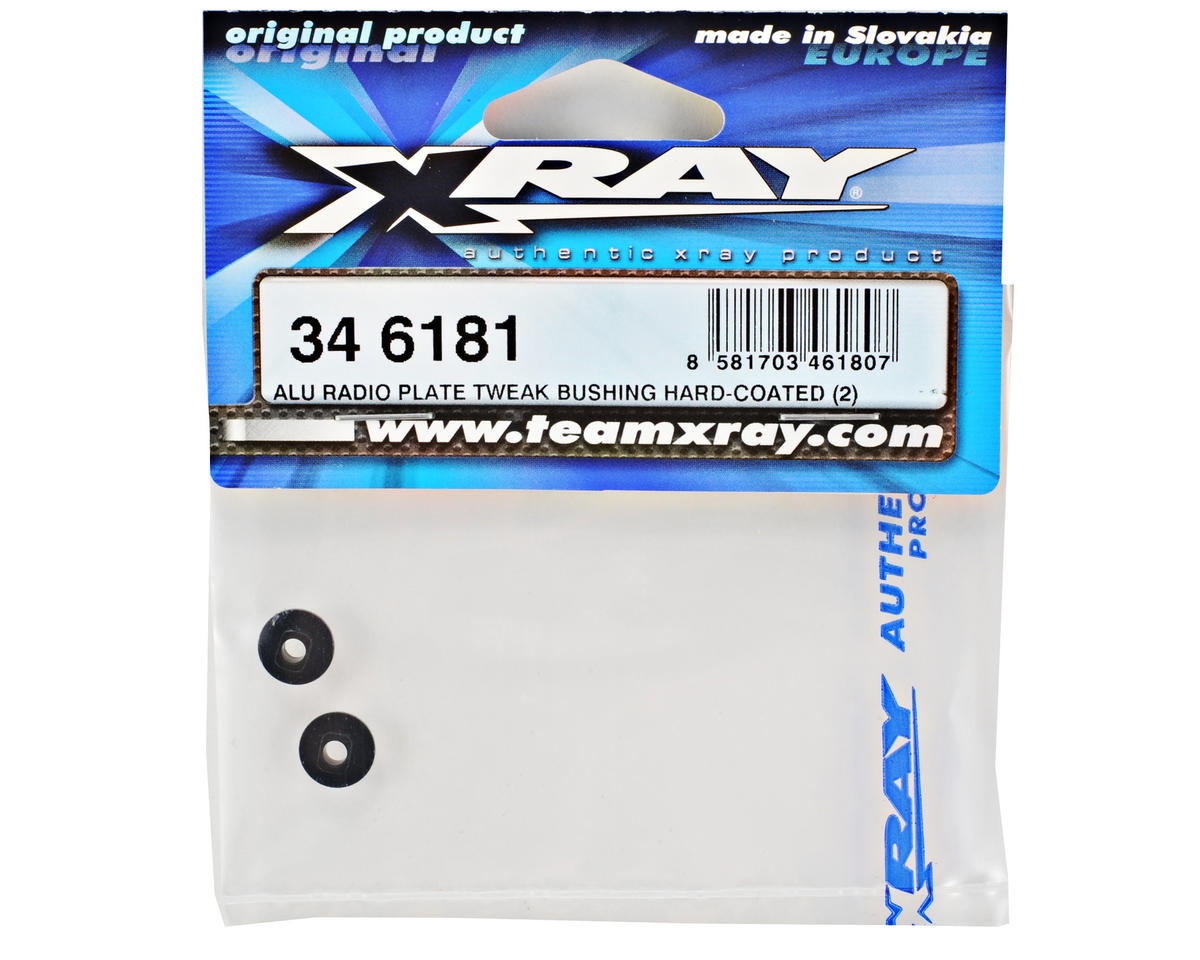 XRAY Aluminum Radio Plate Tweak Bushing Set (2)