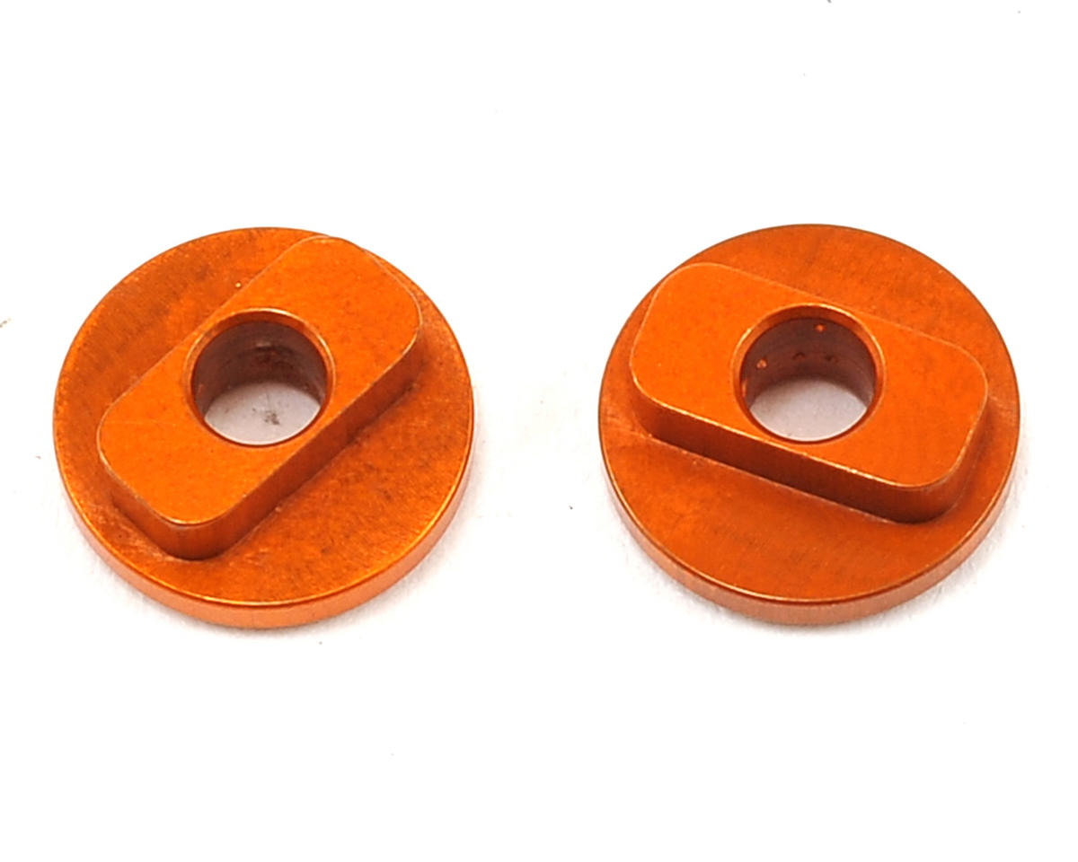 XRAY Aluminum Radio Plate Bushing (Orange) (2) (Fixed)