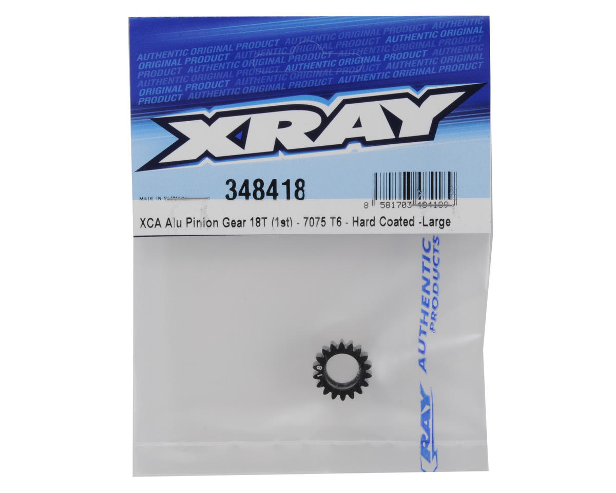 Aluminum XCA Large 1st Gear Pinion (18T) by XRAY